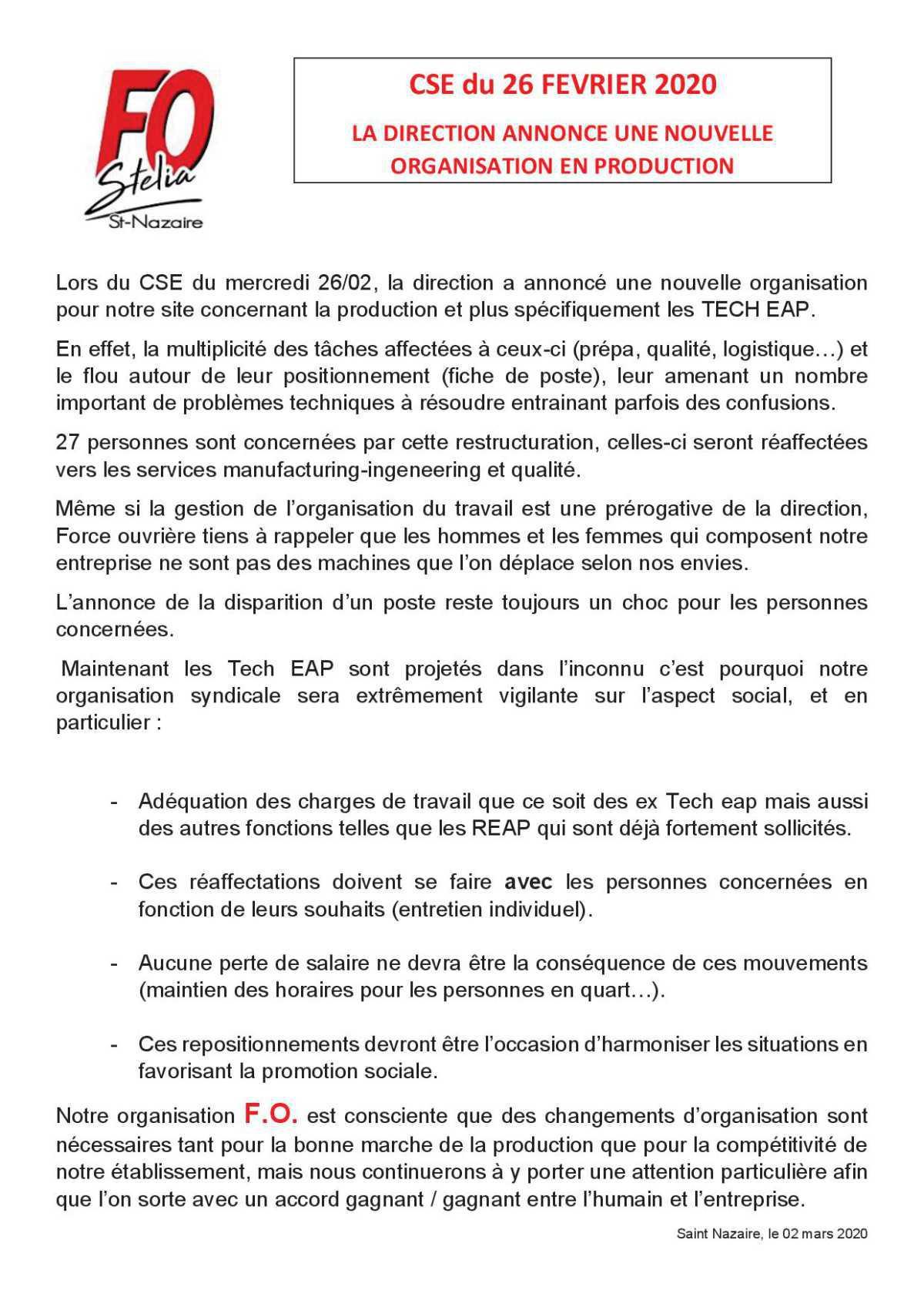 Tract Suppression des postes de Tech EAP