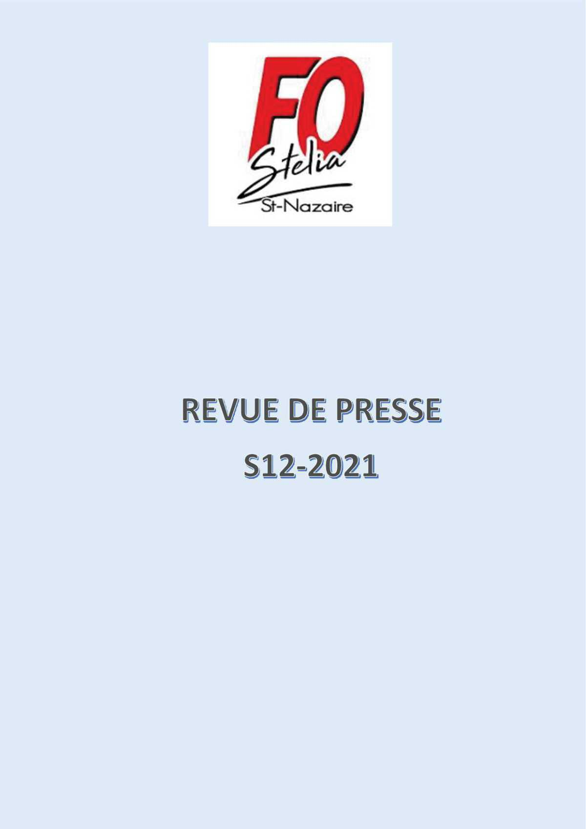 REVUE DE PRESSE S12