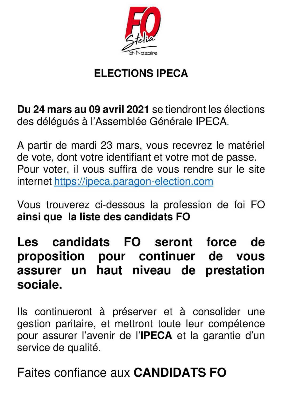ELECTIONS IPECA