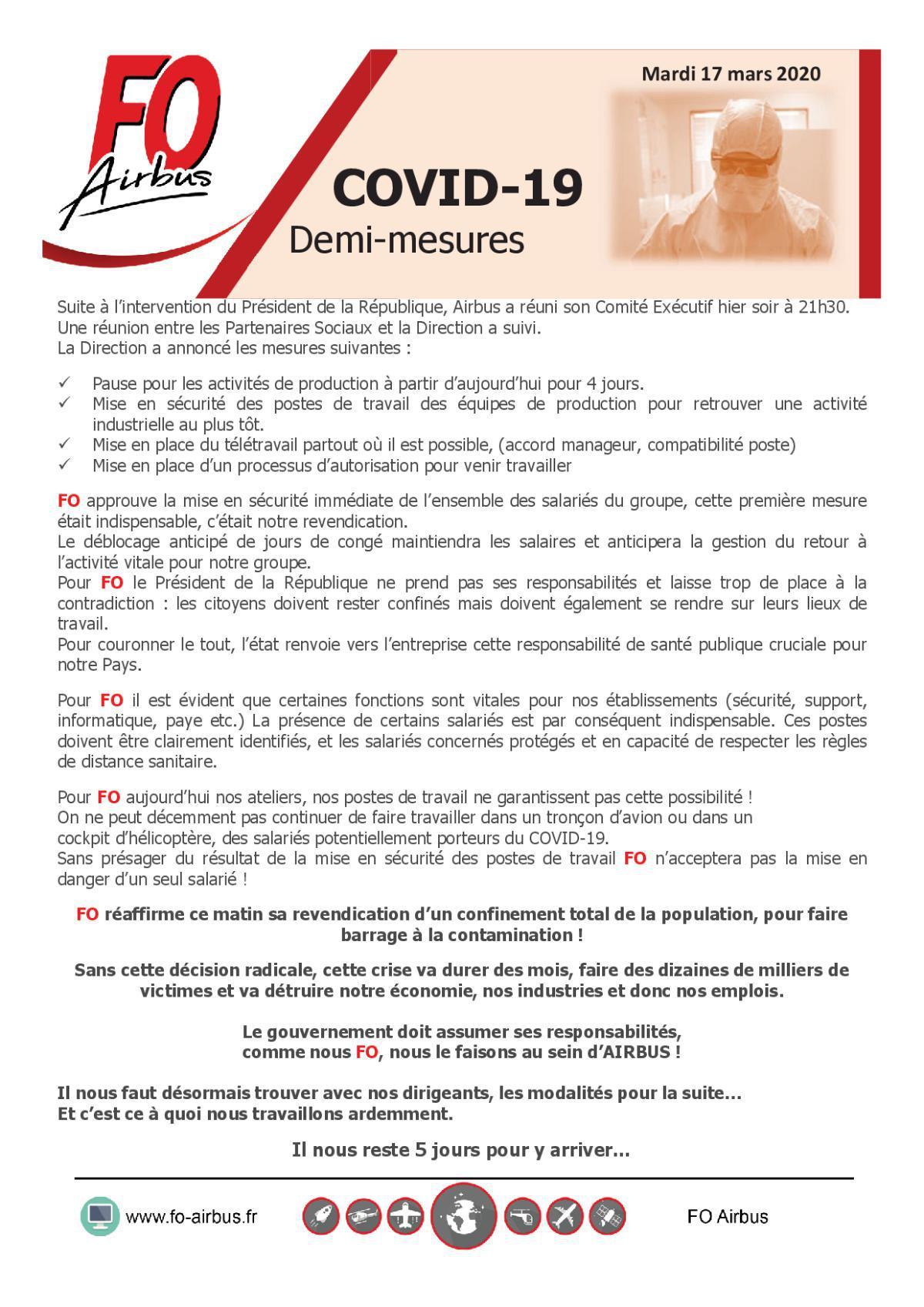COVID-19 - Demi-mesures