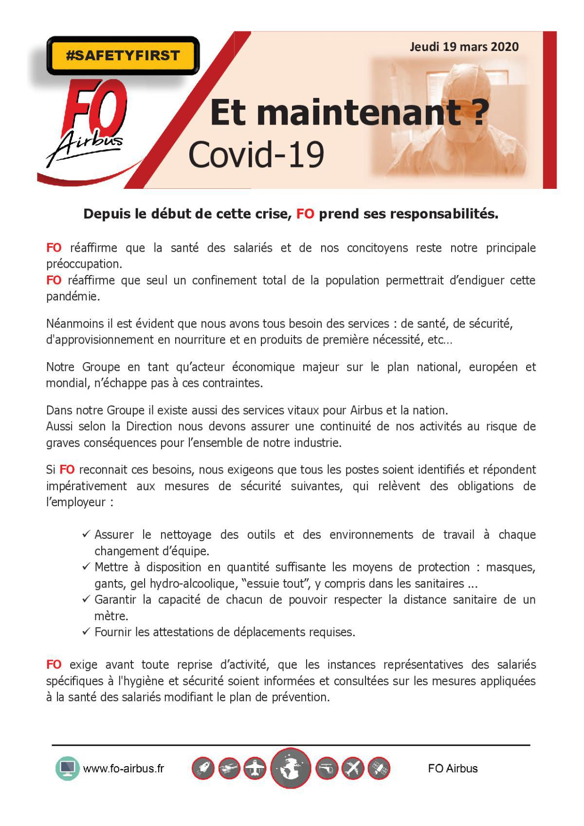 COVID-19 - Et Maintenant ?
