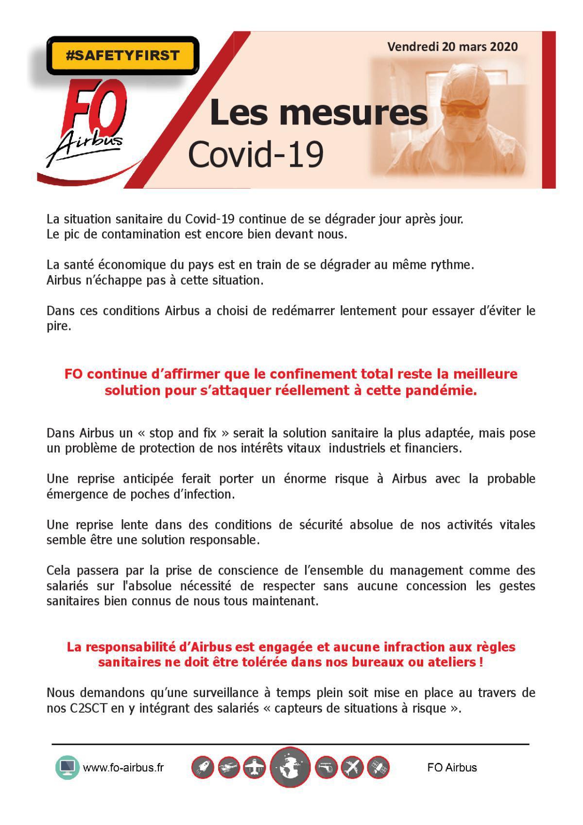 COVID-19 - Les mesures