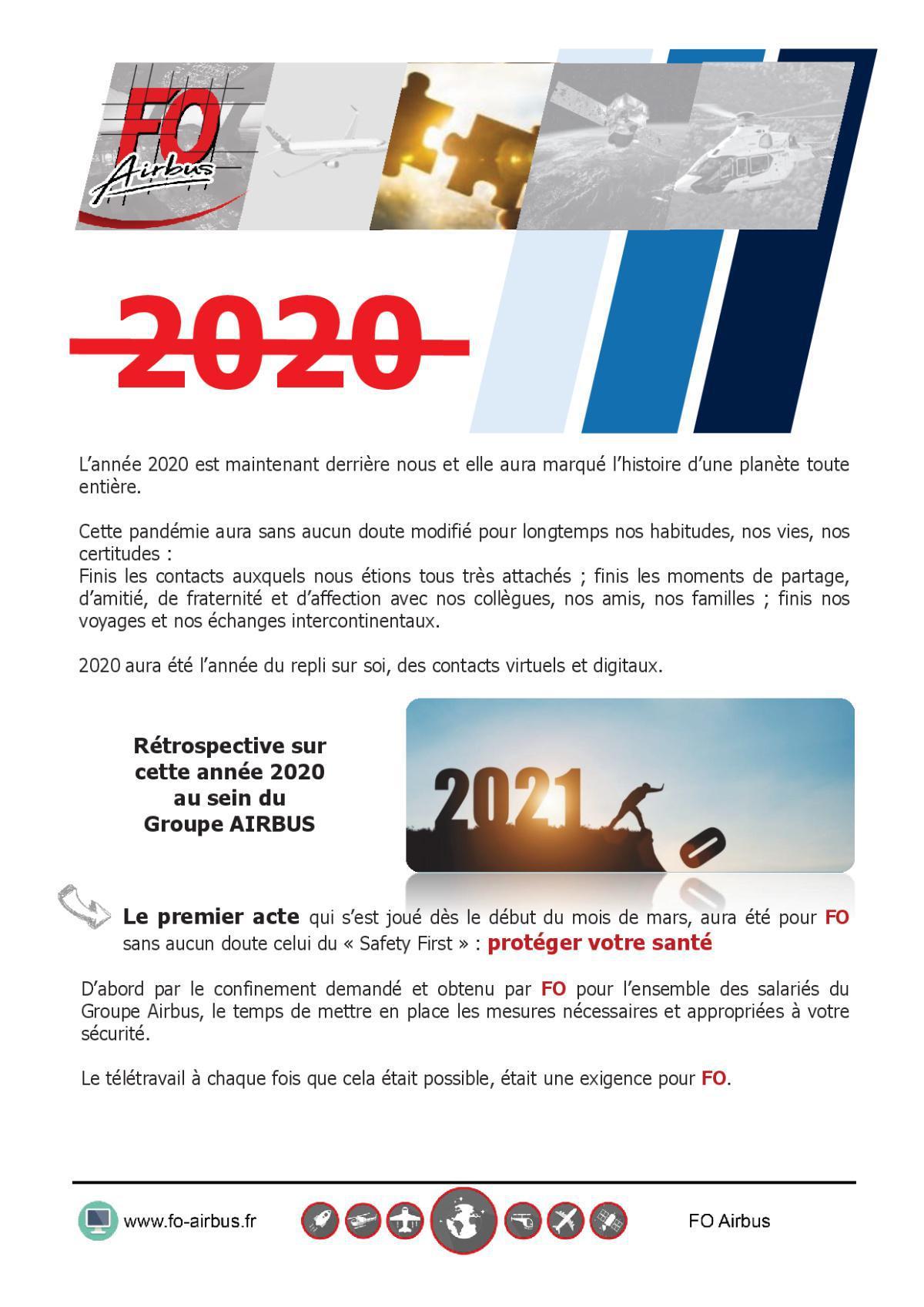 Rétrospective sur cette année 2020 au sein du Groupe AIRBUS