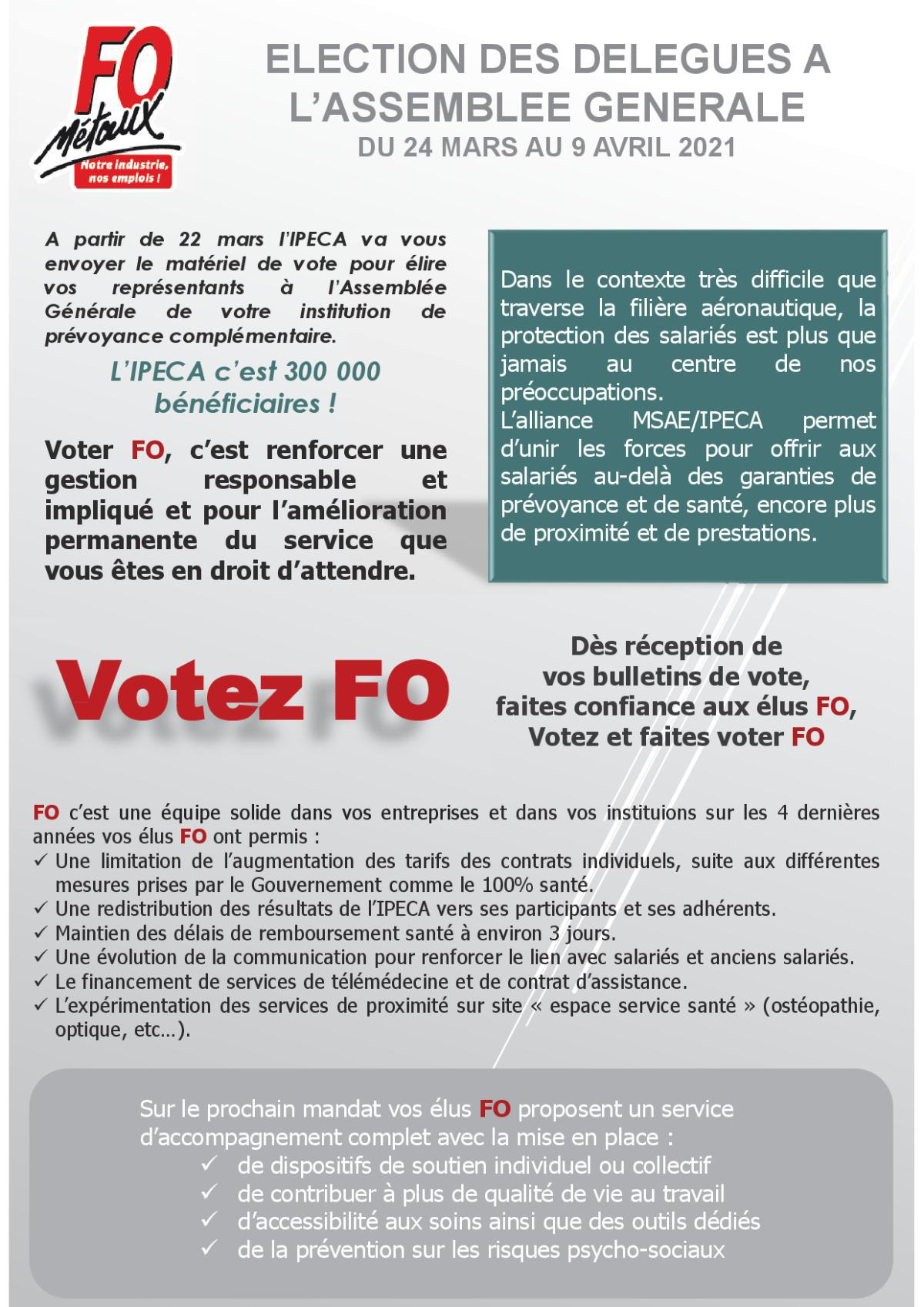 IPECA : Election des délégués à l'Assemblée Générale