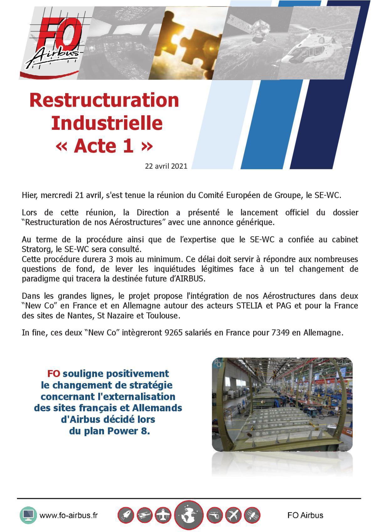 Restructuration industrielle - Acte 1