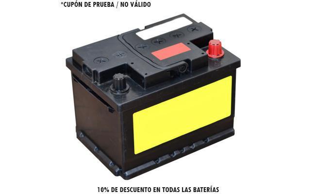 10% de descuento en todas las baterías