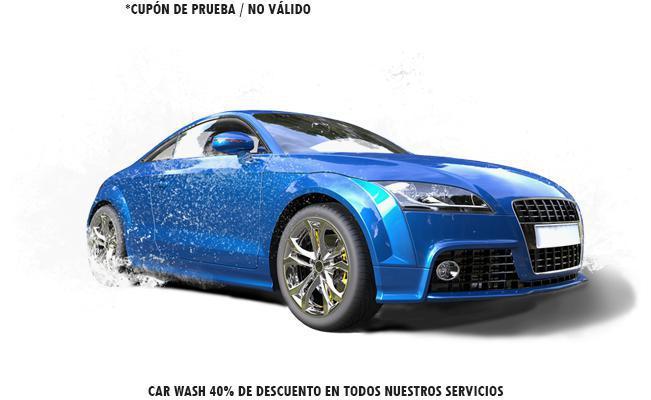 Car Wash 40% de descuento en todos nuestros servicios
