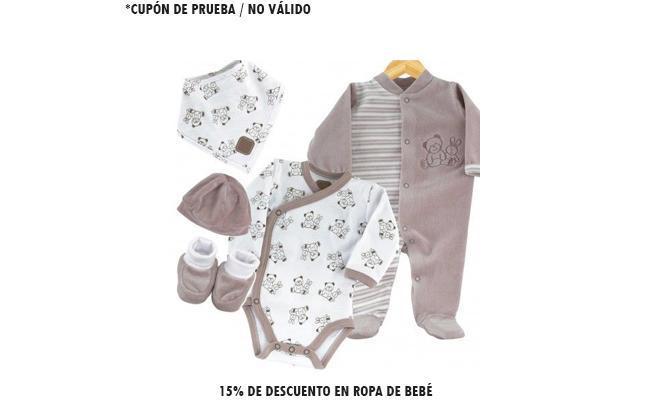 15% de descuento en ropa de bebé