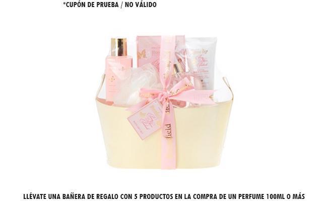 Llévate una bañera de regalo con 5 productos en la compra de un perfume 100ml o más