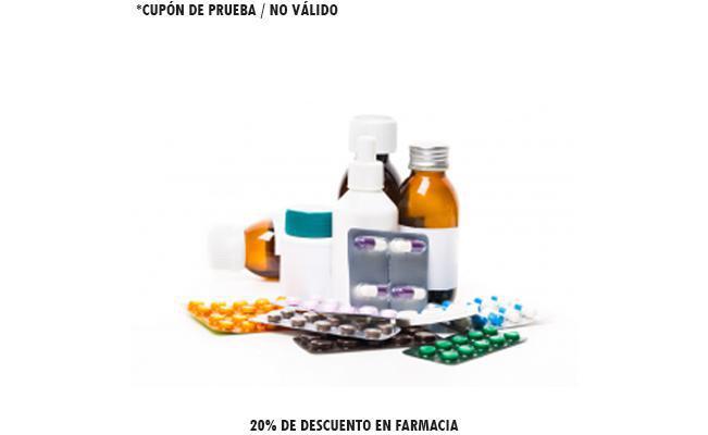 20% de descuento en farmacia