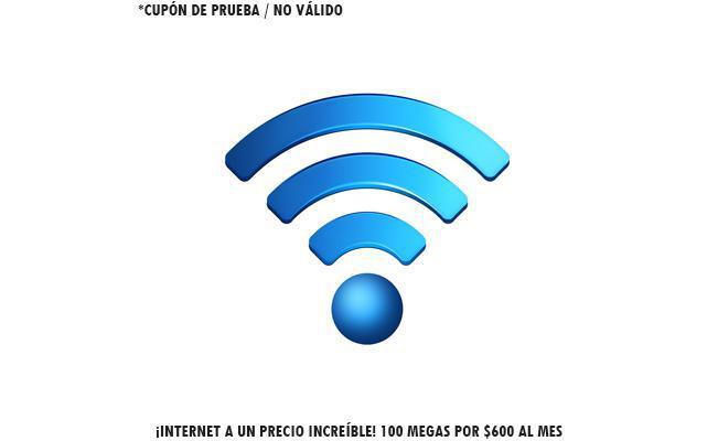 ¡Internet a un precio increíble! 100 megas por $600 al mes