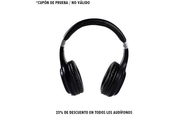 25% de descuento en todos los audífonos