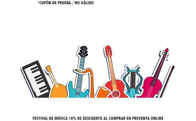 Festival de música 10% de descuento al comprar en preventa online