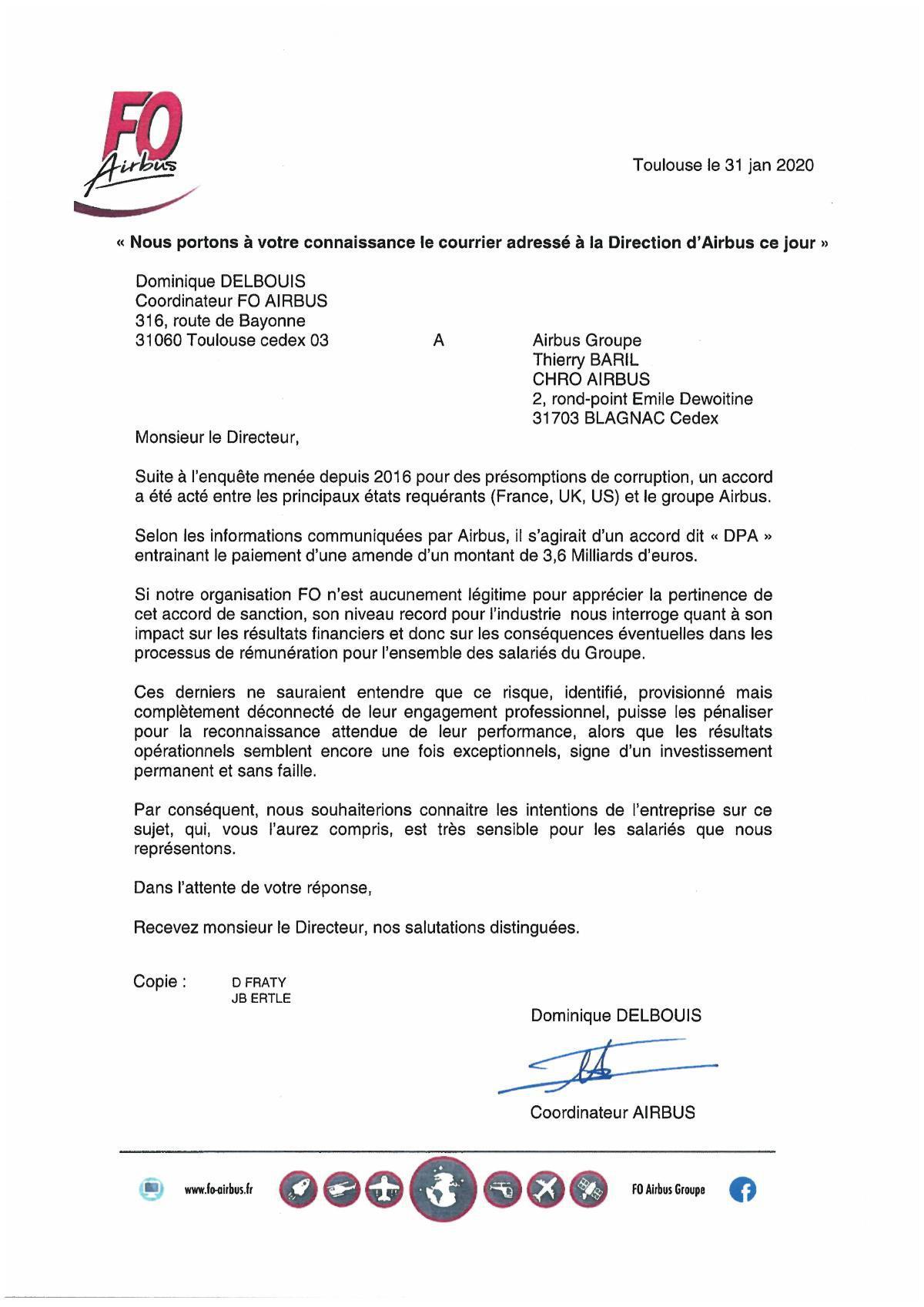 IMPORTANT courrier à Thierry Baril