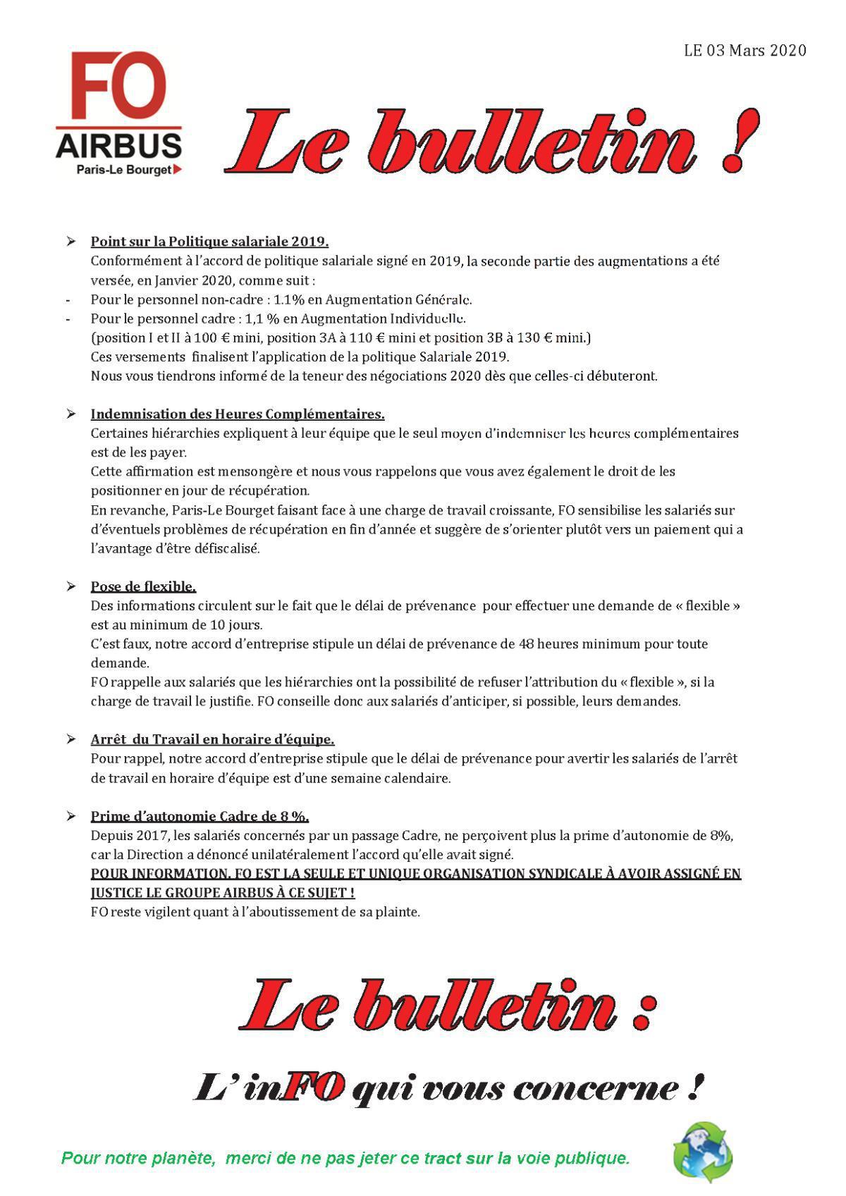 Le Bulletin !