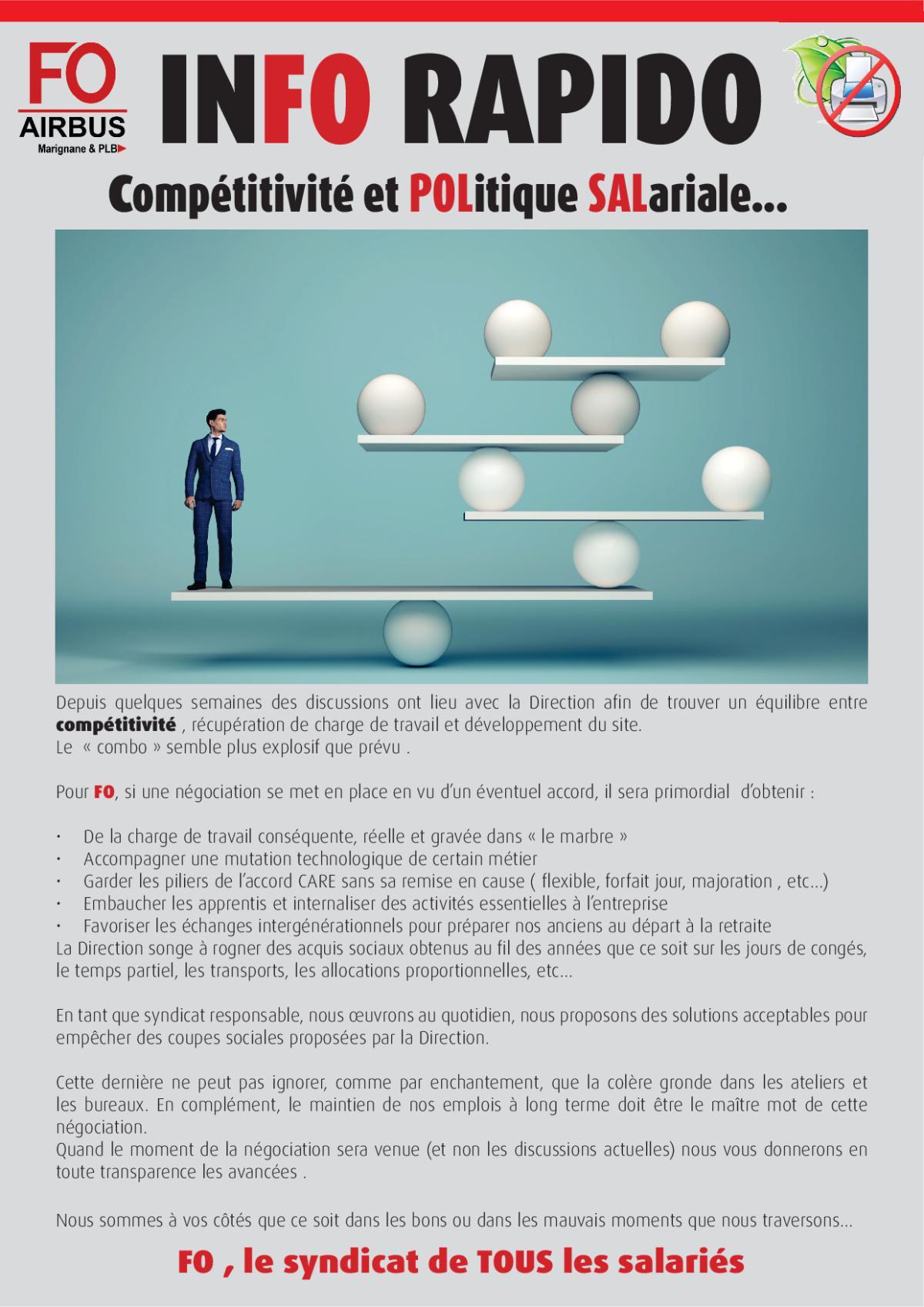 Info Rapido : Compétitivité et Politique Salariale...