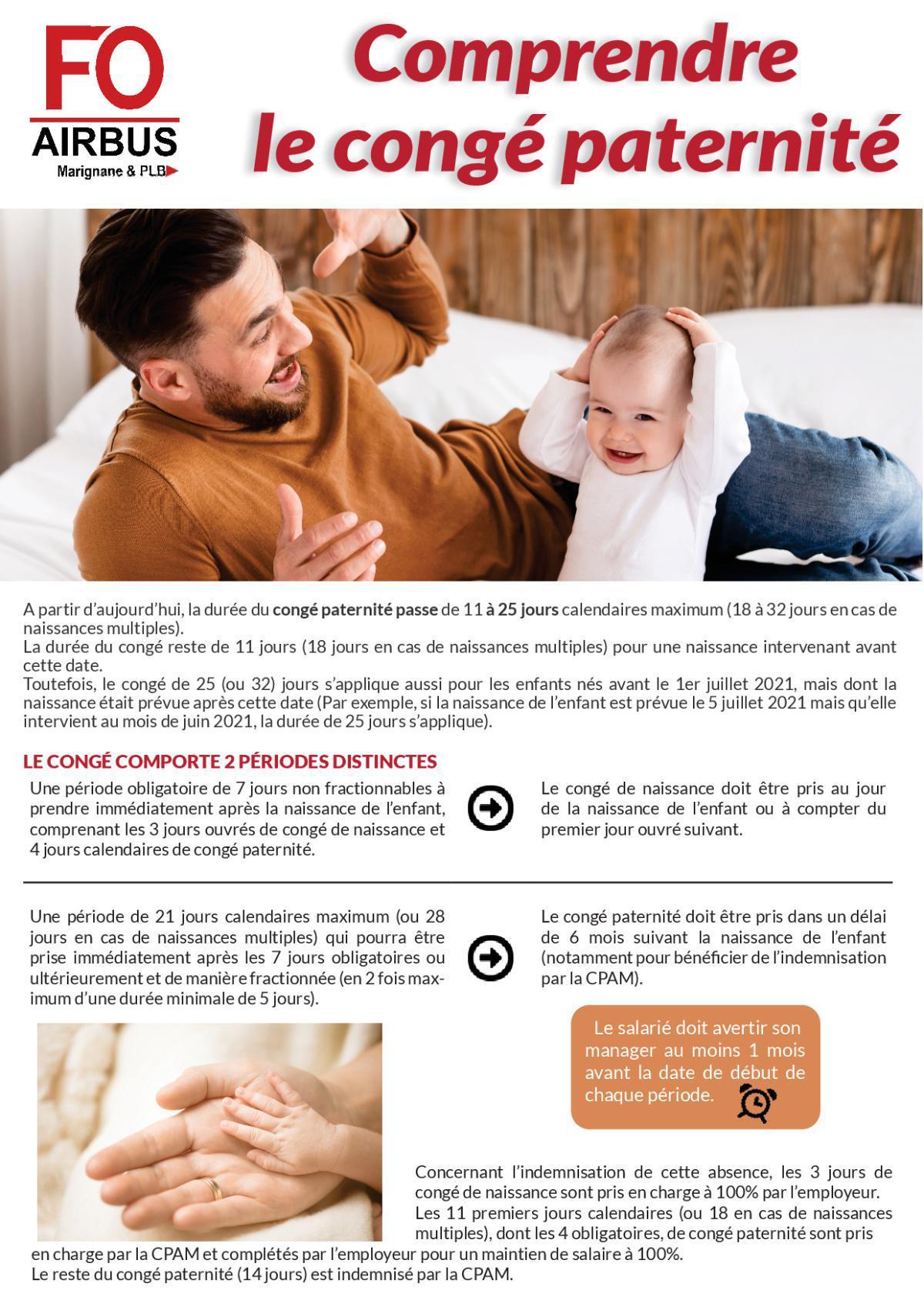 Comprendre le congé paternité