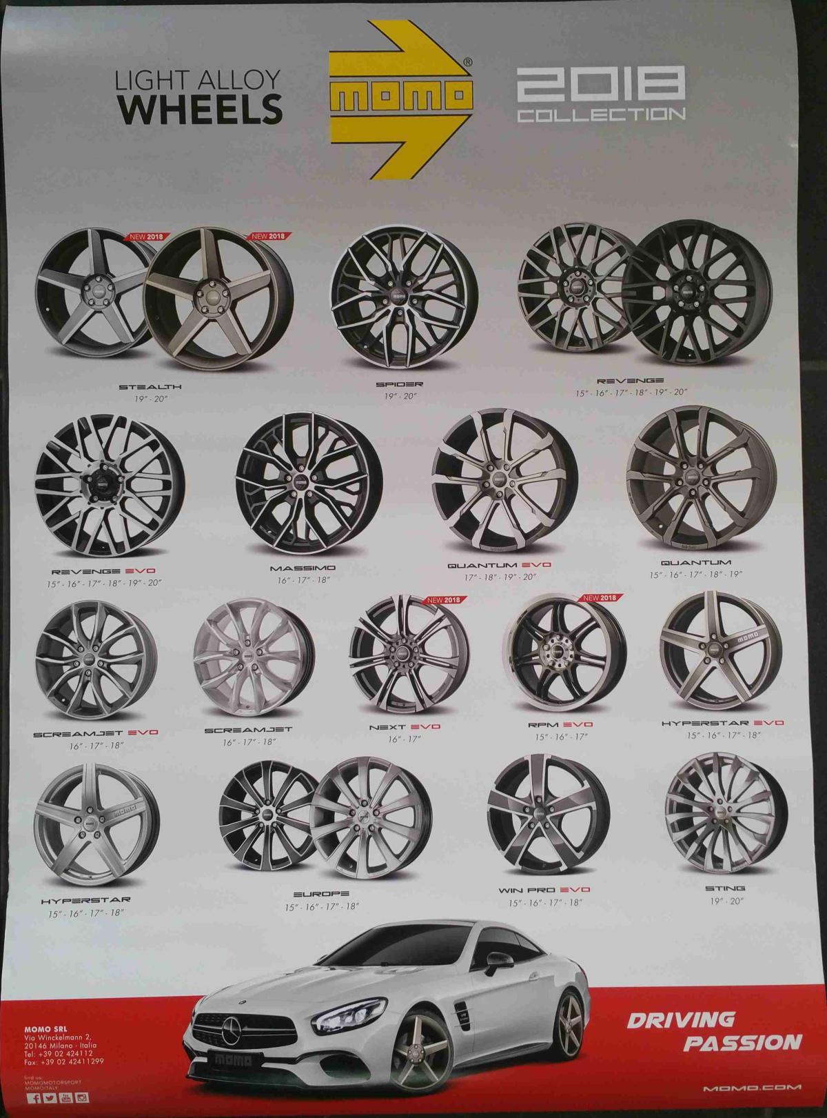 MOMO Light Alloy Wheels 2018 Collection