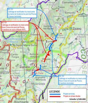 Projets routiers sur les secteurs de la RD 302 et 757