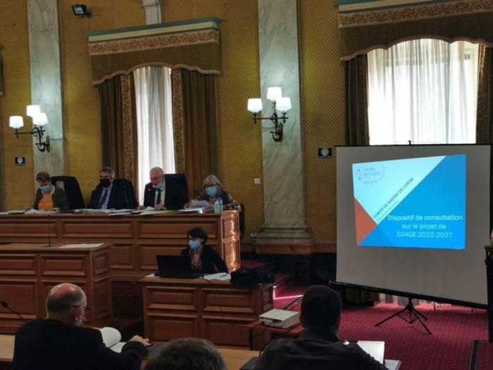Adunita di u Cumitatu di Conca di Corsica nantu à u prugettu di Schema Direttore di l'Accunciamentu è di a Gestione di l'Acque 2022-2027