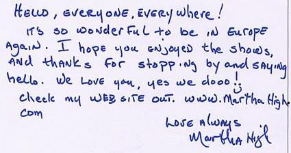 Martha High 2003 18 mars