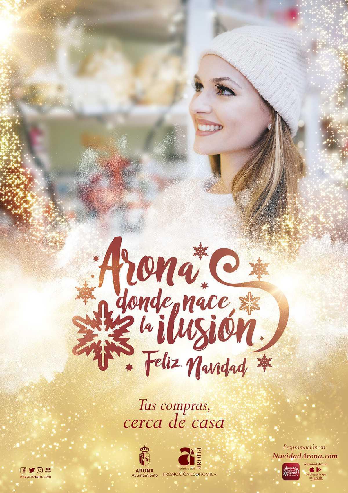 Los comercios de toda Arona se suman a la ilusión navideña con descuentos, regalos y sorteos de viajes para los clientes