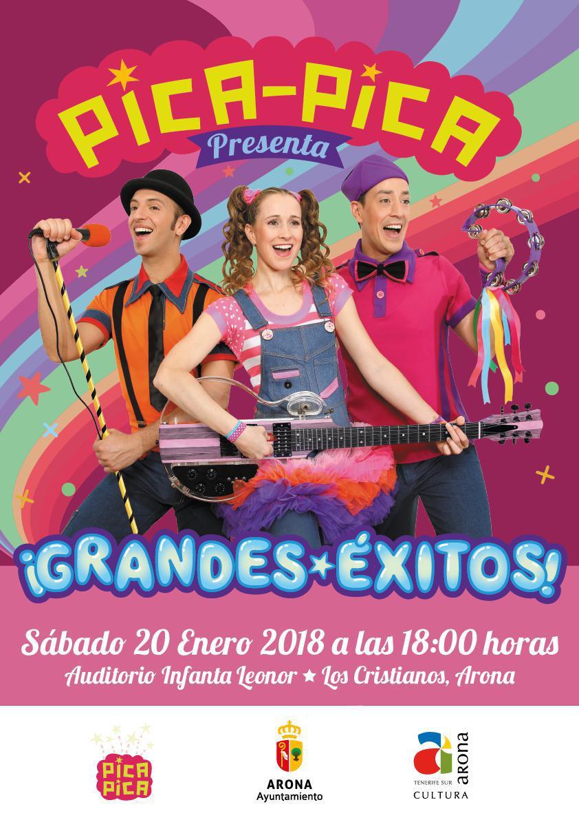 El grupo infantil Pica-Pica actuará el 20 de enero en el Auditorio Infanta Leonor de Arona