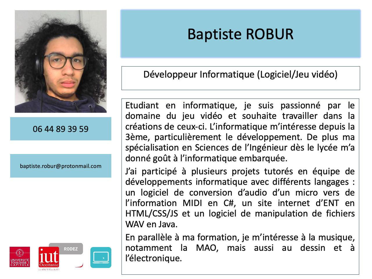 Baptiste ROBUR