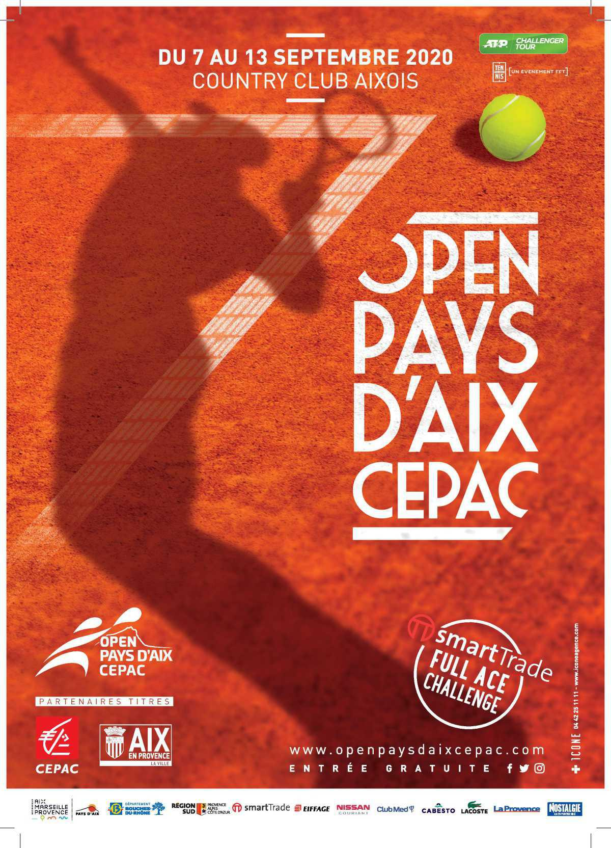 Open Pays d'Aix : Rendez-vous du 7 au 13 Septembre 2020 !