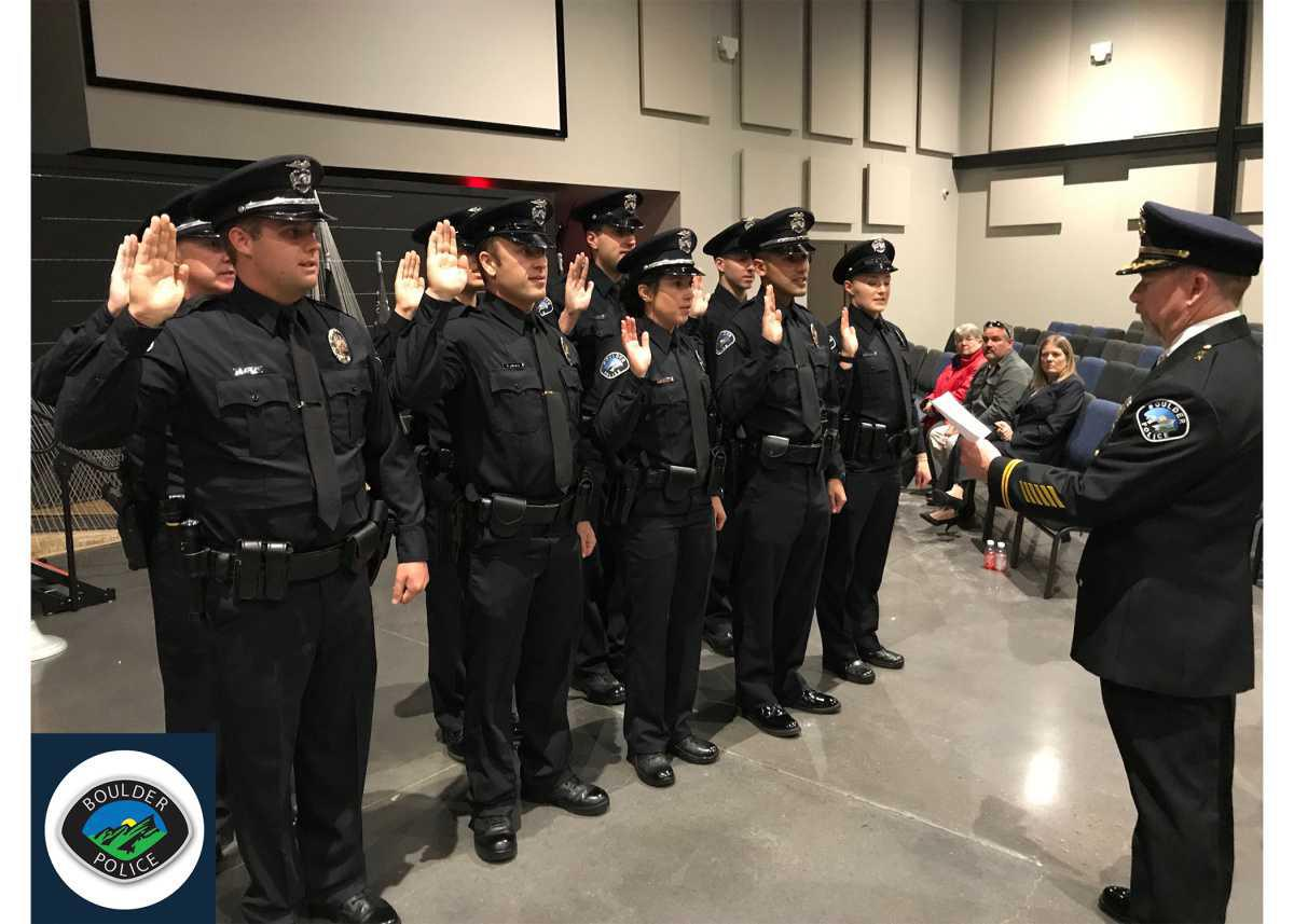 New Recruits Graduate From The Police Academy
