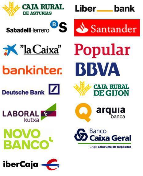 Entidades bancarias aptas para realizar el pago telemático y/o domiciliación en Navarra.
