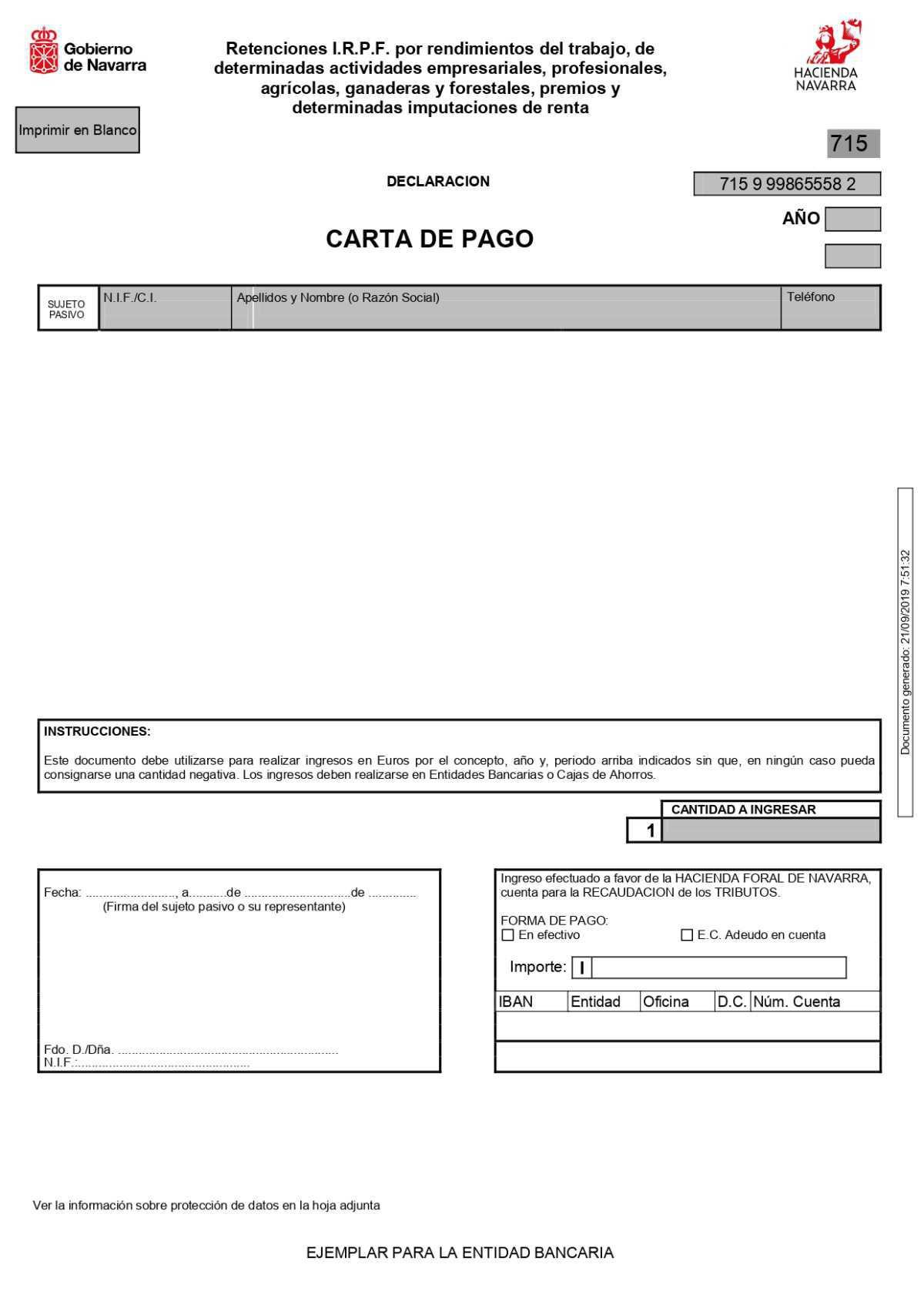 MODELO 715 RETENCIONES NAVARRA