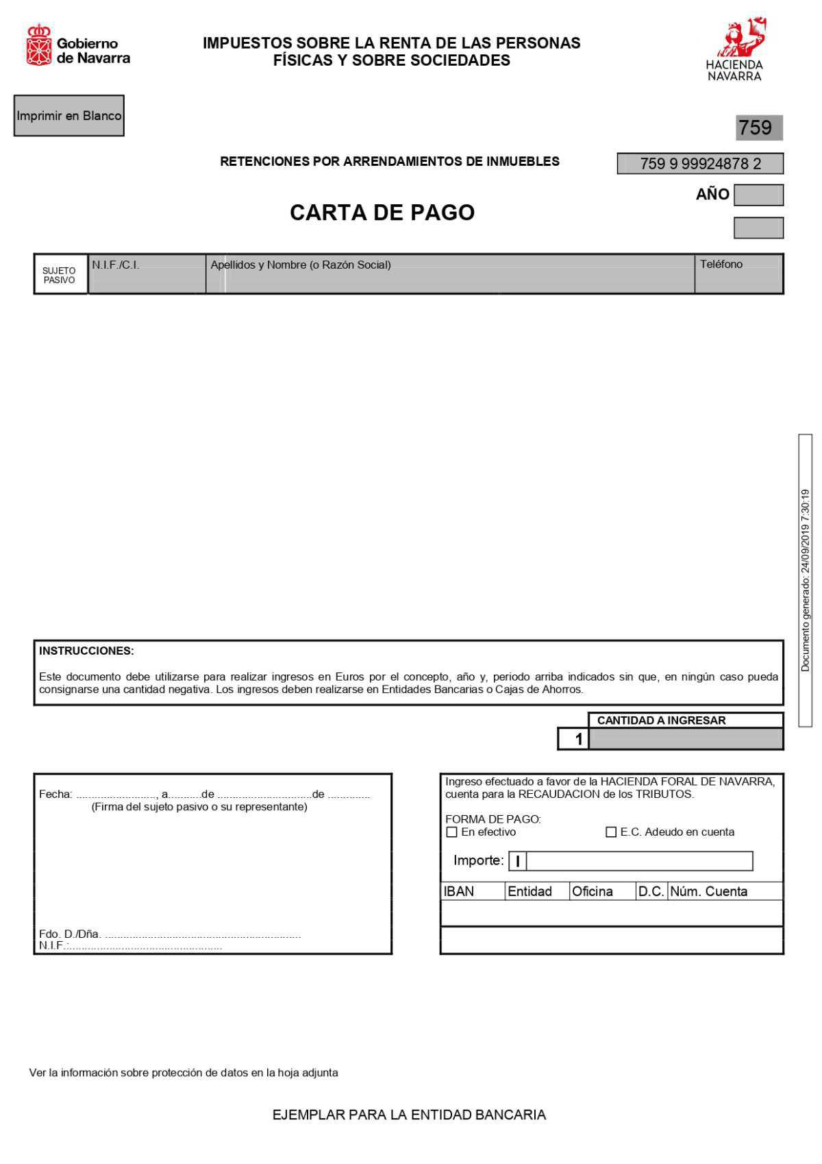 MODELO 759 PARA NAVARRA