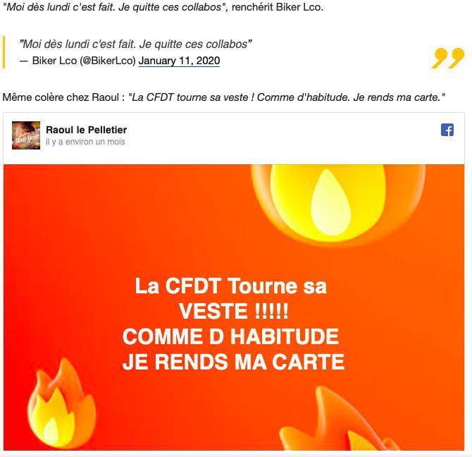 """La direction ne défend pas le plus grand nombre"""" : des adhérents de la CFDT en colère clament haut et fort les raisons de leur départ du syndicat"""