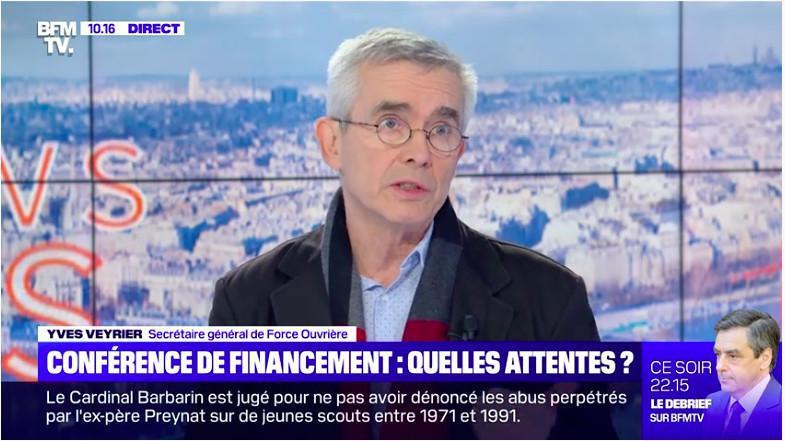 Conférence de financement des retraites - Yves Veyrier, Secrétaire général de FO : « Nous ne sommes pas dupes de l'opération »