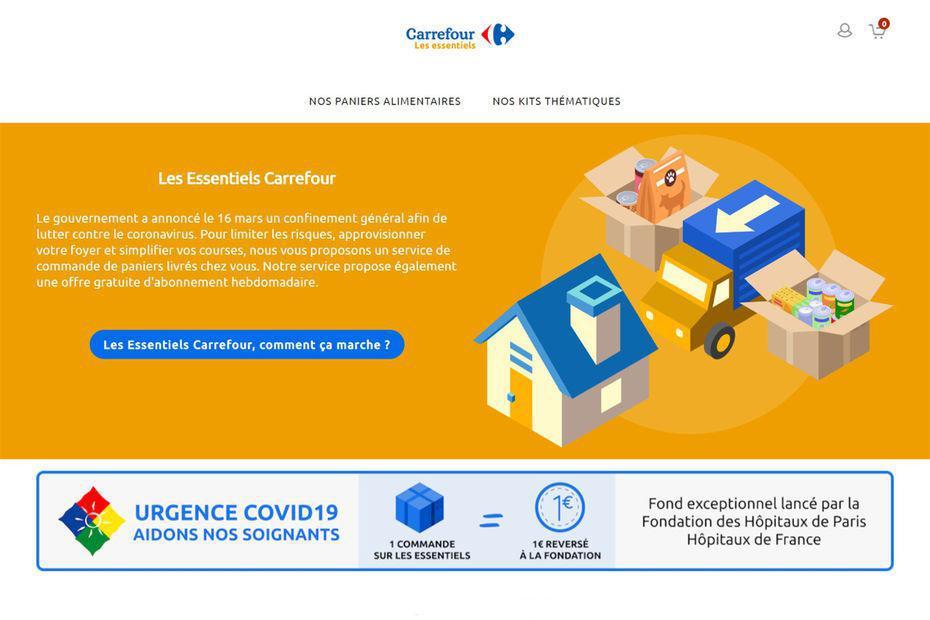 [Coronavirus] Carrefour Les Essentiels, la nouvelle offre de colis pré-préparés livrés à domicile