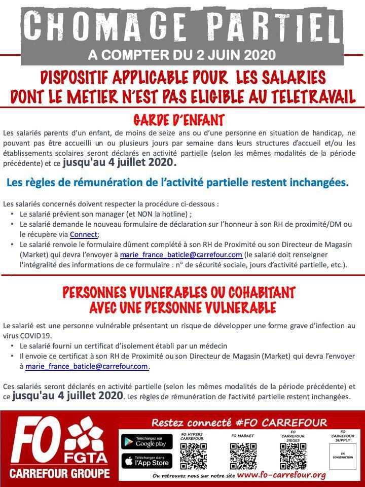 Activité partielle à compter du 2 juin : quelles dispositions chez Carrefour