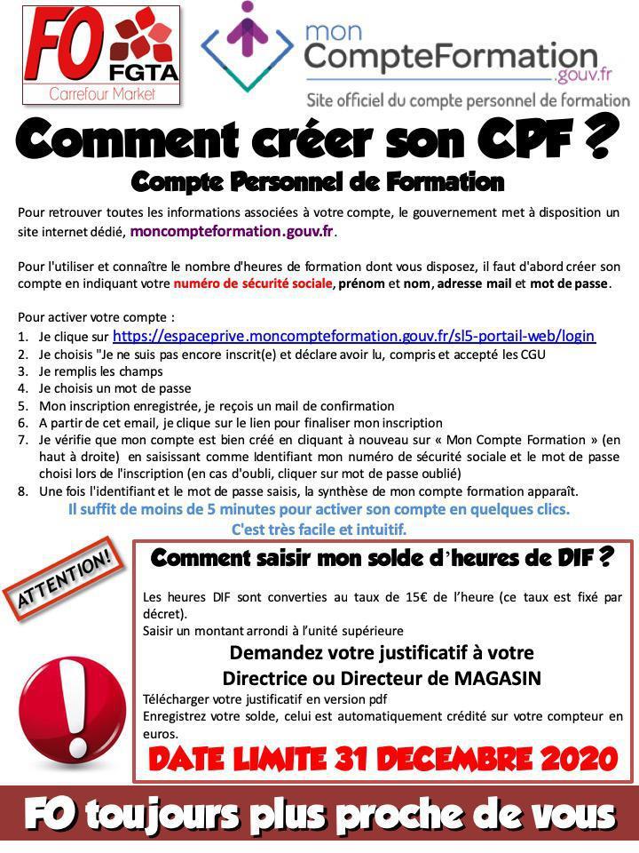 Comment créer son CPF ?