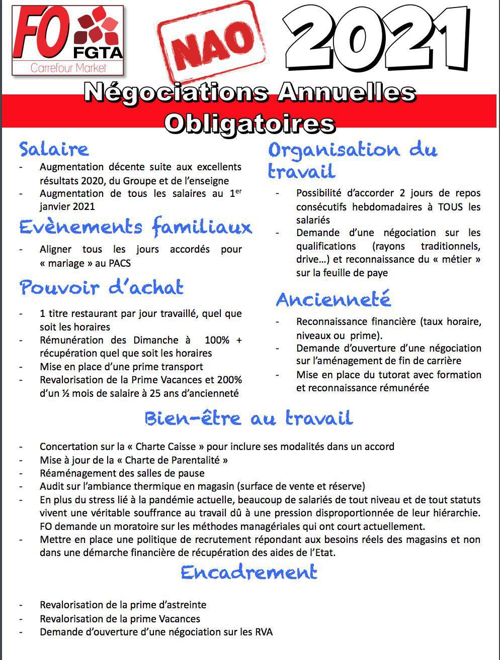 Revendications NAO 2021 (Réunion du 29 janvier 2021)
