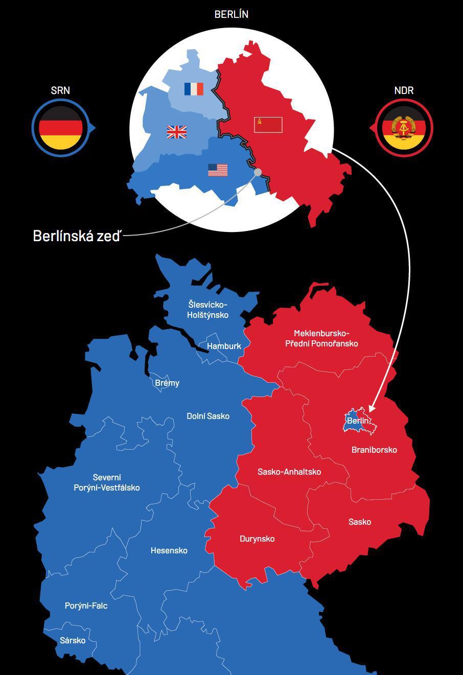 Německo je i po 30 letech pořád rozdělené