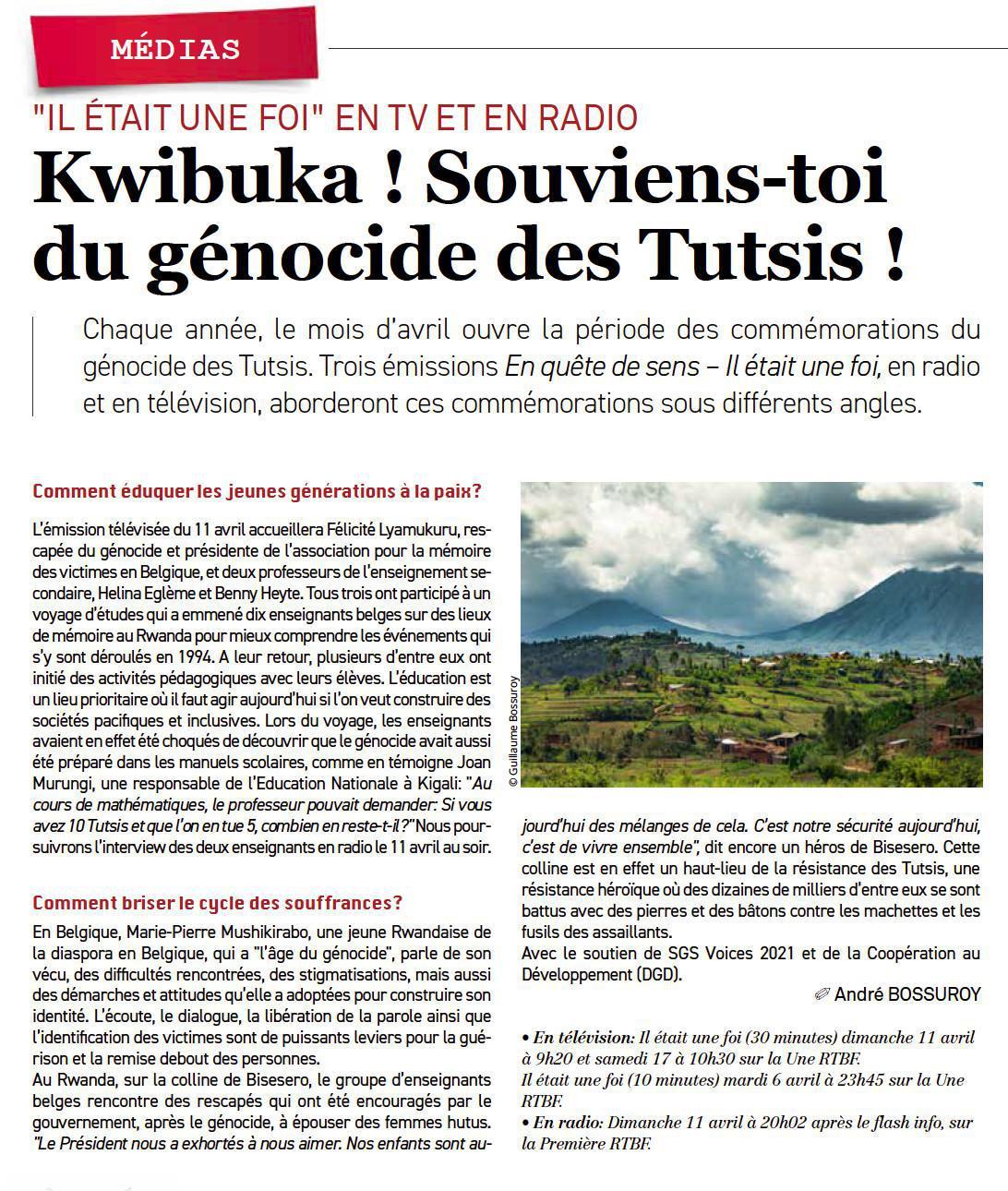 Rwanda, construire une société pacifique