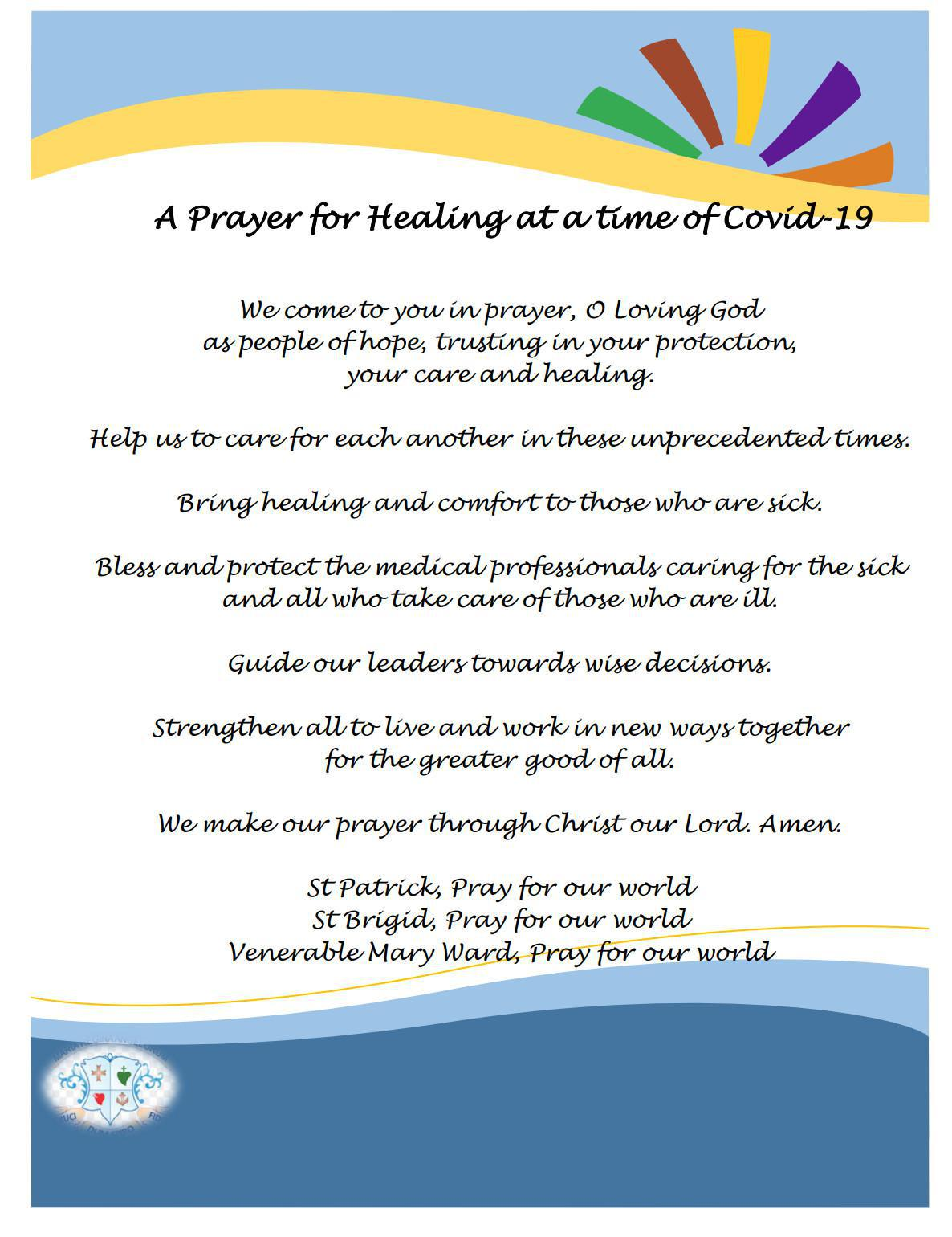 A prayer for Healing at a time of Covid-19
