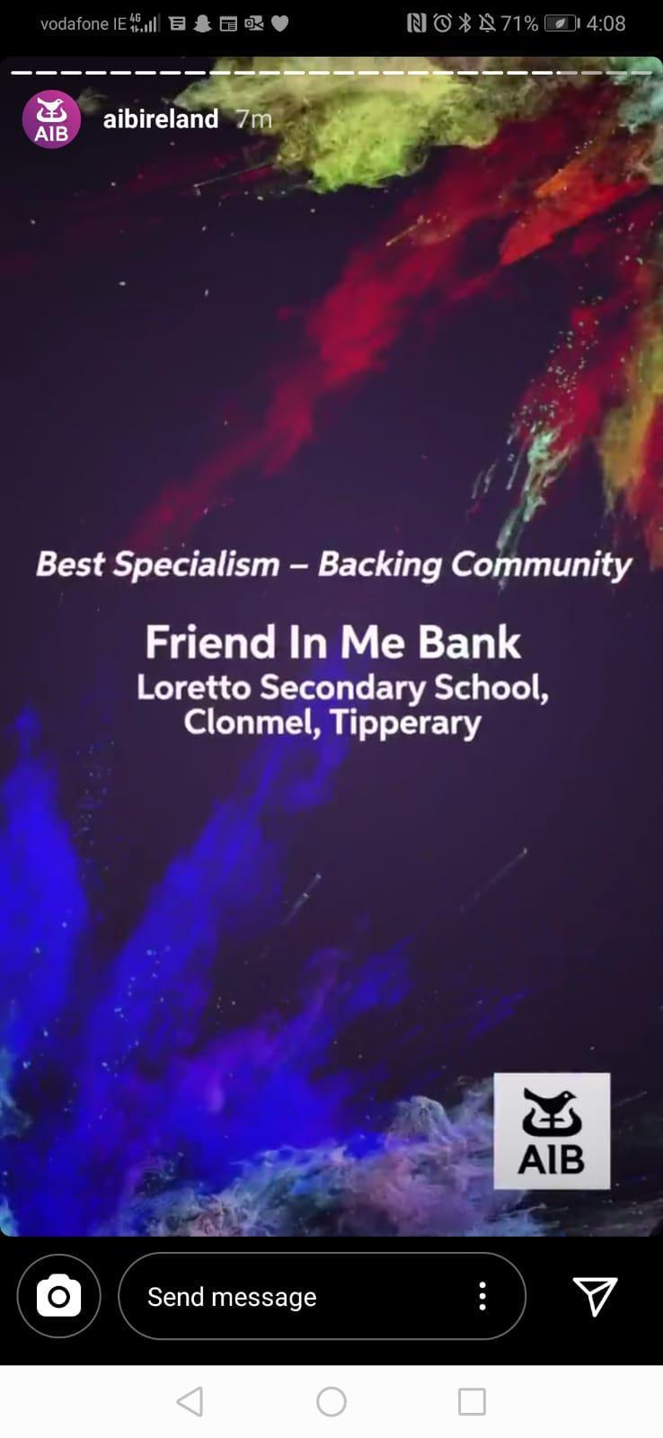 Friend In Me Bank!