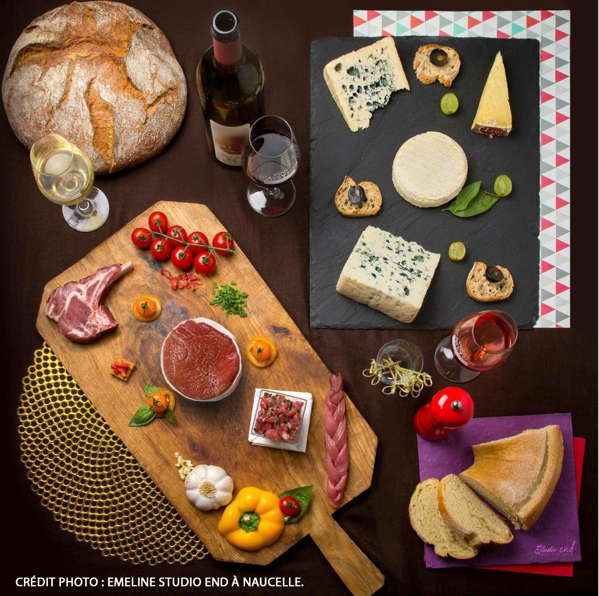 Viandes, Fromages et Vins d'Aveyron sous signes officiel de qualité de l'Aveyron