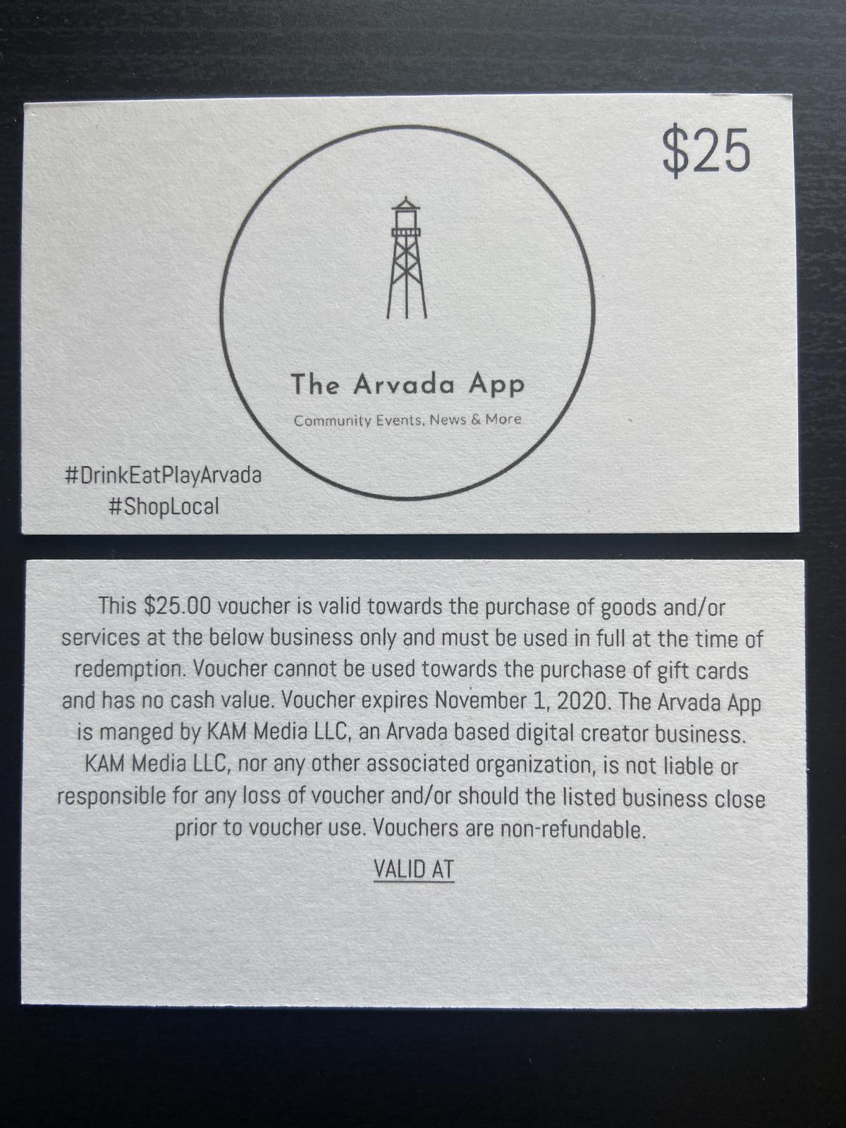 The Arvada App Gift Card, Beers, Restaurants & Online Shopping - All in Arvada #ShopLocal #DrinkEatPlayArvada