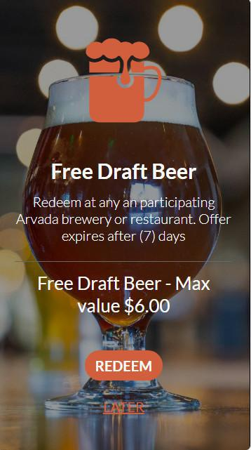 Arvada Draft Rewards...Check-In | Earn Points | Cheers