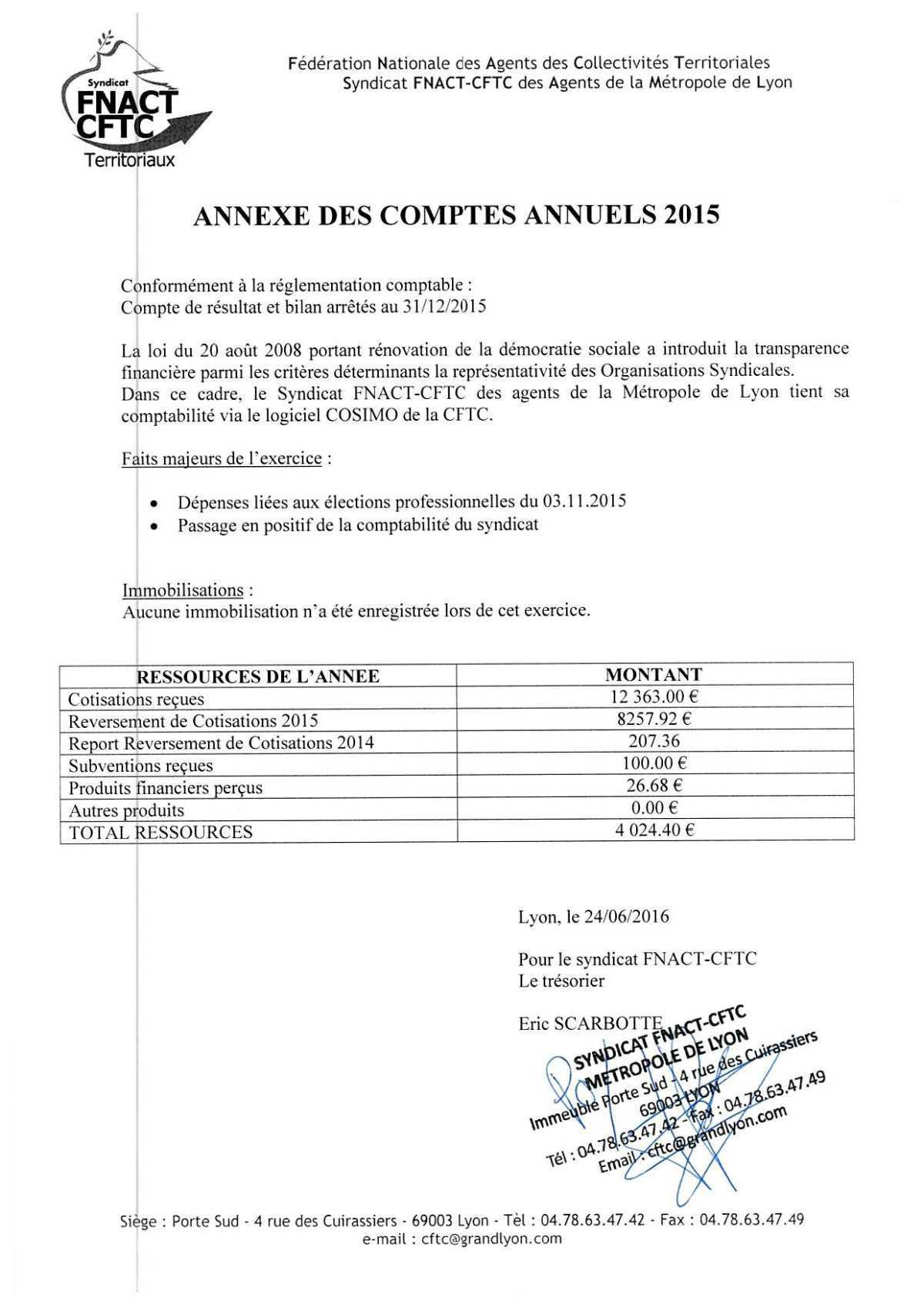 Comptes 2015 métropole Lyon