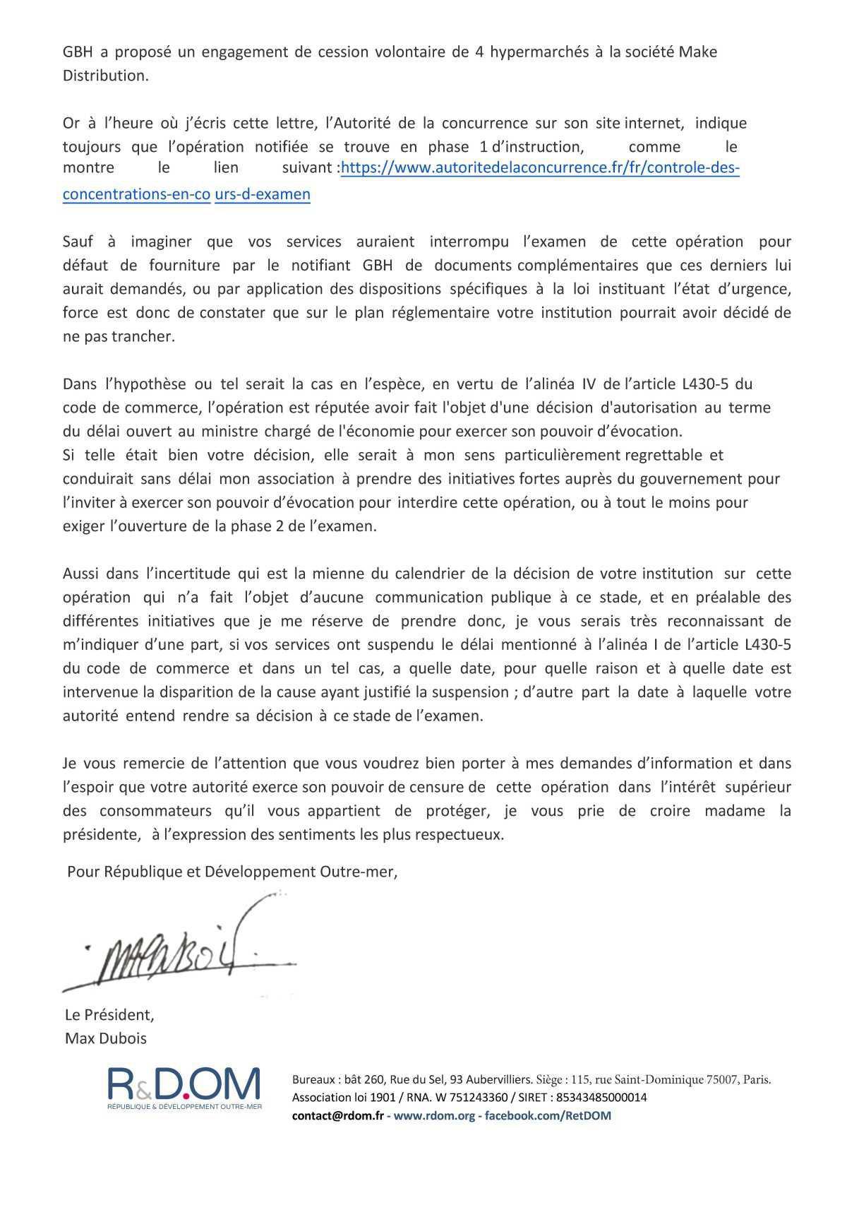 GBH / Vindémia-Casino : Pourquoi R&DOM est opposée à la reprise des magasins Vindémia à la Réunion par GBH ?
