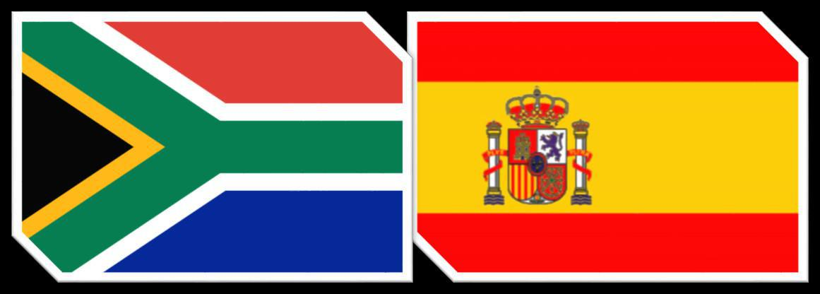 Match Report : South Africa 0 vs 2 Spain - W +40