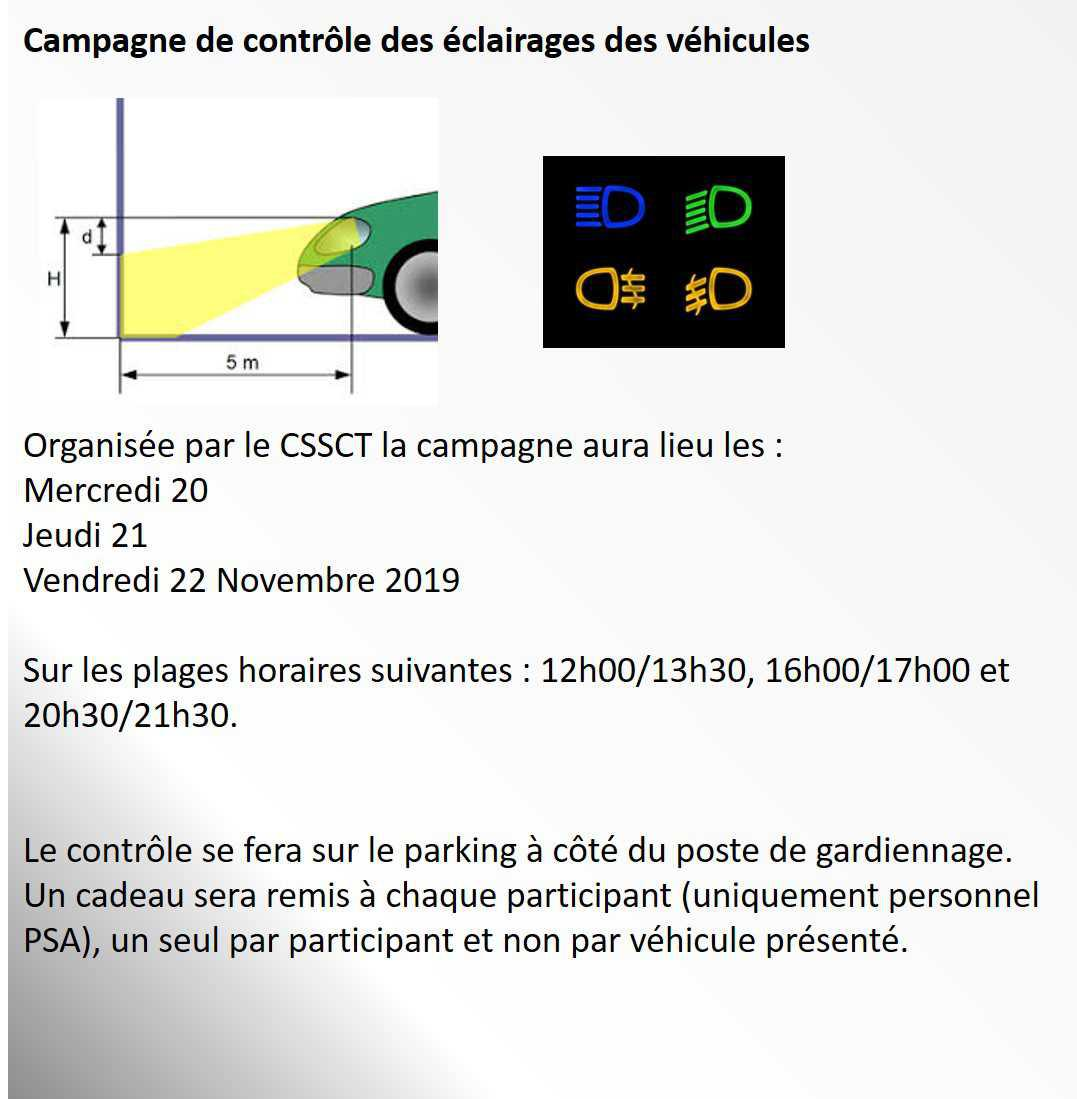 Campagne Eclairage véhicules